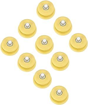 Trendyest Lot de 10 crampons de s/écurit/é pour ongles grimpants et neige jaune