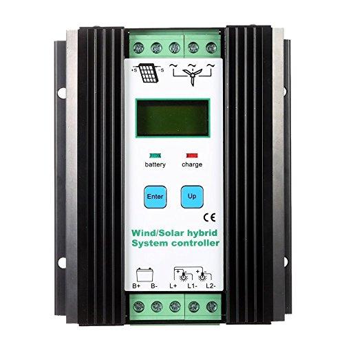 Docooler LCD Economic PWM Wind Solar Hybrid System Controller 12v/24v Automatic Identification Battery Controller (600w Wind + 400w Solar) by Docooler