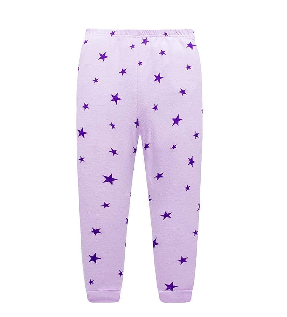 Seogva Ensemble De Pyjama Garcon Fille Coton Pyjama Manche Longue Enfant PJS V/êtements Pyjama gar/çon Deux Pi/èces Ensemble