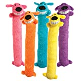 Multipet Loofa Plush Squeaky Dog Toy Set 2 Piece Pack Set