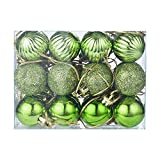 Yezijin Clearance!! Christmas Balls Ornaments, 24Pcs 30mm Christmas Xmas Tree Ball Bauble Hanging Home Party Ornament Decor (Green)