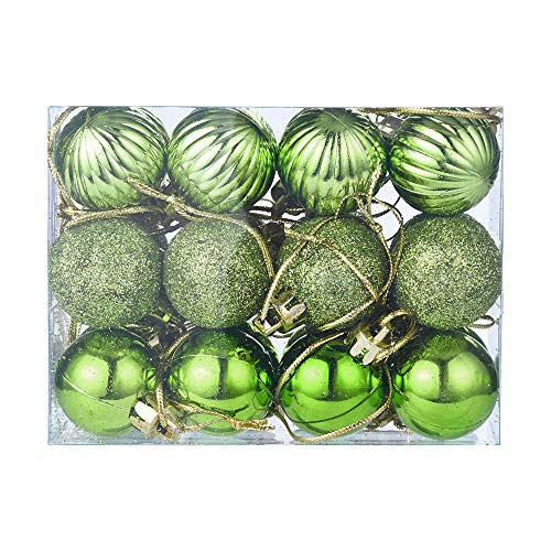 24Pcs Christmas Ball Ornaments,Gallity Christmas Decorations Tree Balls Small for Holiday Wedding Party Decoration, Bauble Xmas Tree Ornaments (Green) (Baubles Tree Christmas)