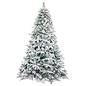 ALEKO CTS59H450 Deluxe Artificial Indoor Christmas Holiday Tree 5 Foot Snow Dusted 7