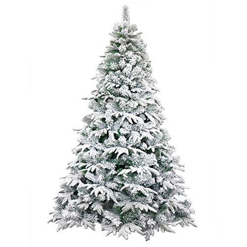 ALEKO CTS94H1300 Deluxe Artificial Indoor Christmas Holiday Tree 8 Foot Snow Dusted (Christmas Deluxe Tree White)