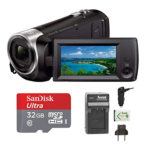 Sony HDRCX440 Handycam HD Camcorder w/ 32GB Micro SD Card & Battery/Charger