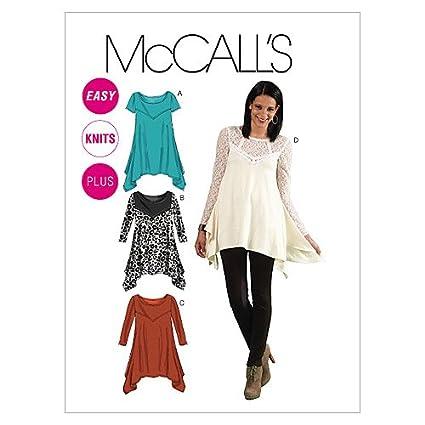 McCalls M6398 Patrón de costura para blusones de mujer
