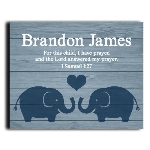 I Have Prayed Print | Boys Wall Art | Boy Name Decor | Baby Boy Gift | Personalized Baptism Gift | Christening Gift | Religious Gift | Christening Present | Baptism Present | First Communion