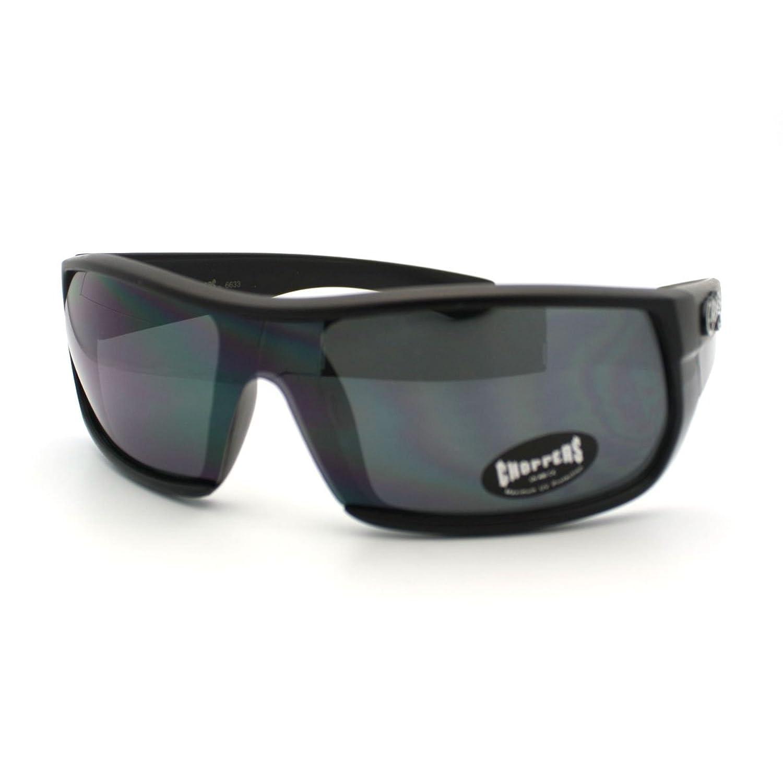 Chopper's Oversized Shield Style Warp Around Motocycle Sunglasses