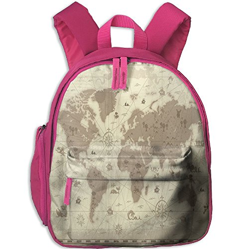 Mkajkkok Aged Retro Styled Map Of The World With Mountains Fantasy Monsters And Compass Decorative You Are My Sunshine Backpack 3D Printing School Bag. - Factory Wholesale Handbag