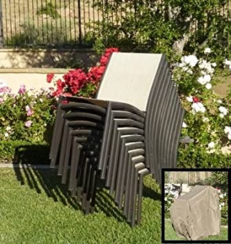 formosa covers stacking chair cover fits 4 to 8 chairs amazon co uk
