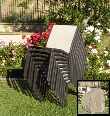 amazon com premium tight weave stacking chair cover fits 4 to 8 rh amazon com Stackable Patio Chairs Target Stackable Patio Chairs 19.99