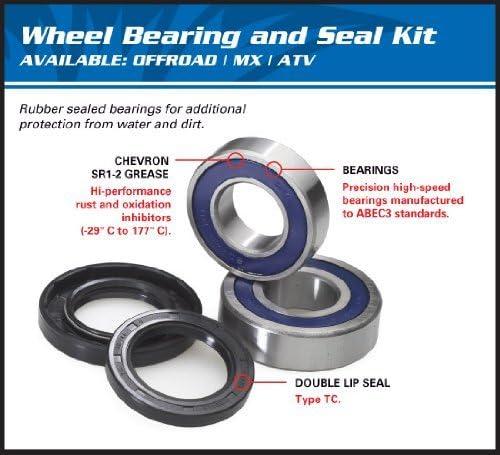 Arctic Cat 375 2x4 ATV Rear Wheel Bearing Kit 2002