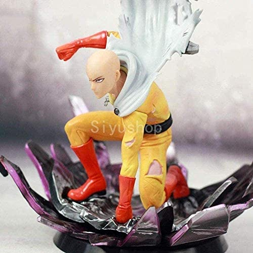 One Punch Man Saitama Sensei PVC Action Figure Anime Beeldje Toy One Punch Man Best Gift For Kids volwassenen en S - High (9.4Inches) xuwuhz