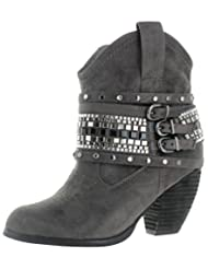 Not Rated Shawty Women's Embellished Western Ankle Booties Boots