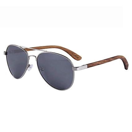 MIAOMIAOWANG Gafas de Sol Wayfarer Gafas de Sol de Madera ...