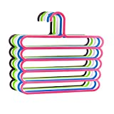 Nuobo 5Pcs Multi-layer Racks Scarf Hanger Rack Skid Innovation Clothes Hanger Home & Living Storage (5Pcs)