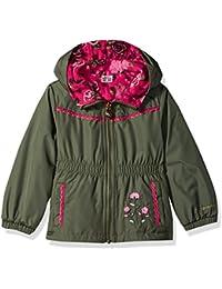 Papijam Girls Winter Faux Fur Hood Puffer Down Overcoat Jackets Coat Yellow 5T