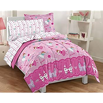 Amazon Com 4 Pc Modern Pink And White Teen Girl Comforter