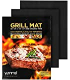 "Yumms! BBQ Grill Mat Set of 2 15""x13"""