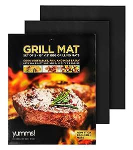 """Yumms! BBQ Grill Mat Set of 2 15""""x13"""""""