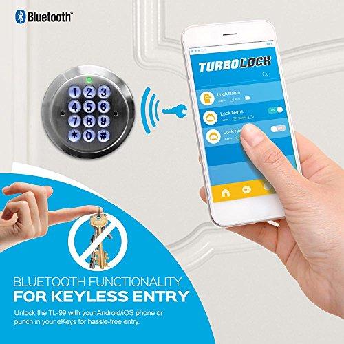 TurboLock TL-99 Bluetooth Smart Lock for Keyless Entry & Live Monitoring – Send & Delete eKeys w/App on Demand (Bronze) by TURBOLOCK (Image #1)