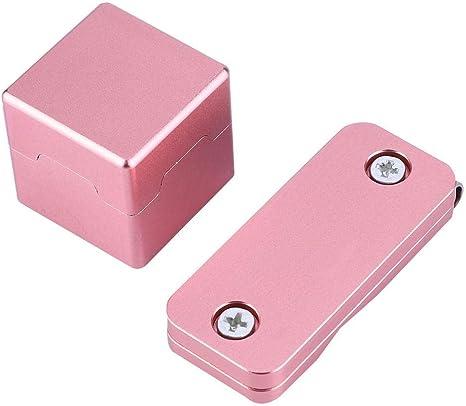 Titular de Tiza para Piscina Mini Taco de Punta magnética para Tiza Porta Billar Tizas de Piscina Portador Caja de Aluminio para Bolsa de Billar Asseccory: Amazon.es: Deportes y aire libre