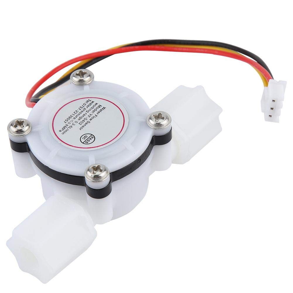 G1//4 Water Flow Sensor Switch Hall Effect Sensor Flowmeter Water Flow Counter Quick Connect Fluid Meter for Water Cooler Coffee Machine Drinking Fountain DC5V 0.15~3L//min