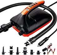 SUP Air Pump ,Chefic 20PSI Digital Electric SUP Pump with Dual Stage Inflation & Deflation,12V Portable Ai