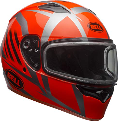 Bell Qualifier Dual Shield Snow Helmet (Blaze Titanium/Orange, XXX-Large)