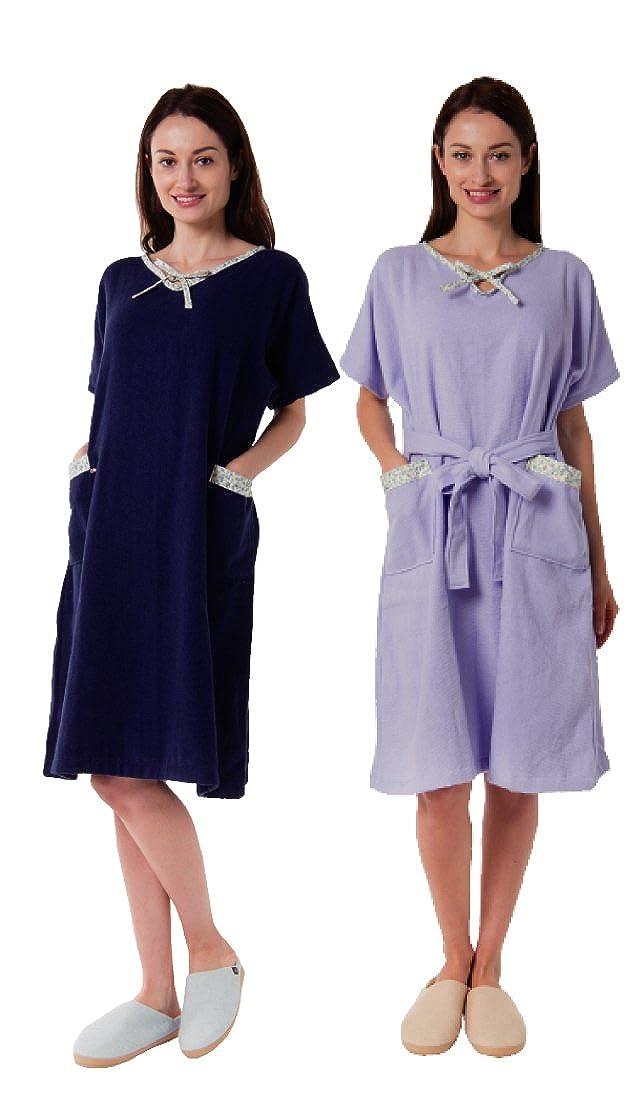 エネタン 今治 湯上がりバスドレス 【ラベンダー色】 日本製 お風呂 洗面所 レディース ルームウェア B01FVX4JUM