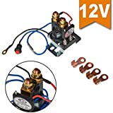 Ehdis® 12V 200 AMP Battery Isolator and Relay 4 Terminal Dual Battery Auto Increase Battery DC 12V-24V Suit for All Type of Cars, Track, Van, Vehicle