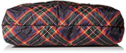LeSportsac Medium Travel Tote Bag, Cozy Plaid Black, One Size