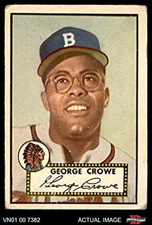 1952 Topps 360 George Crowe Boston Braves Baseball Card Deans Cards 15