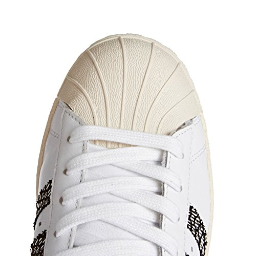 Adidas Mannen Superster 80 Sneakers Blanc