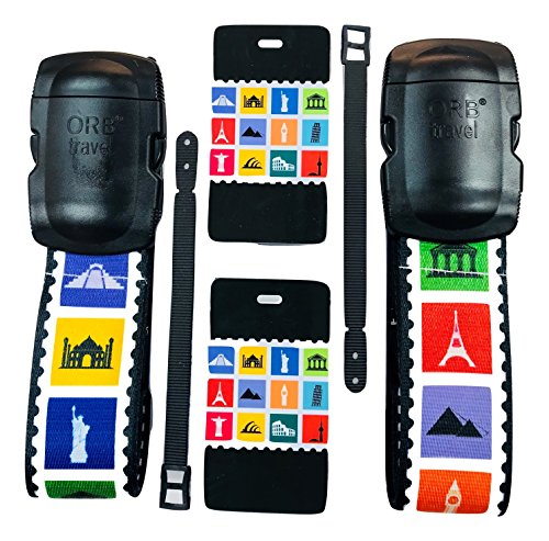 - ORB - Travel Essentials Kit Luggage Strap Heavy Duty Buckle. (TE203-Multi-Colour)