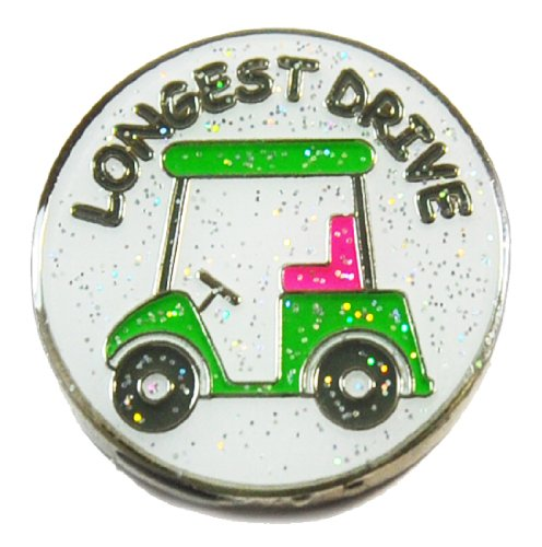 Navika Longest Drive Glitzy Ball Marker with Hat Clip (Drive Clip)
