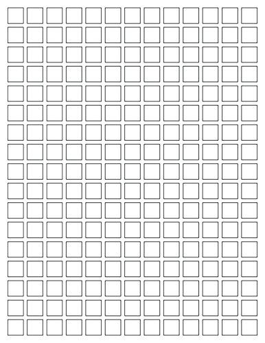 """Square Stickers 1/2"""" x 1/2"""" (half inch)- Do it yourself. Print your own square labels - Inkjet / Laser. User friendly Easy to use with Microsoft word. TEMPLATE Included--1185 pack Photo #2"""