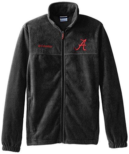 NCAA Alabama Crimson Tide Collegiate Flanker II Full Zip Fleece Jacket, Charcoal Heather, XX-Large