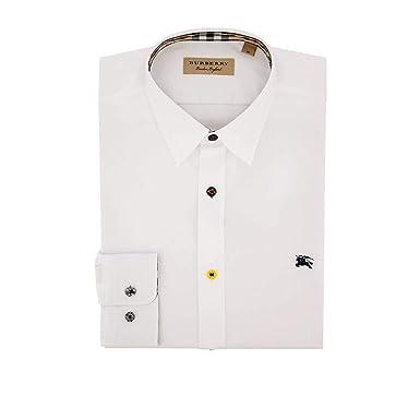 0f864310749c BURBERRY Homme 8003081 Blanc Coton Chemise  Amazon.fr  Vêtements et ...