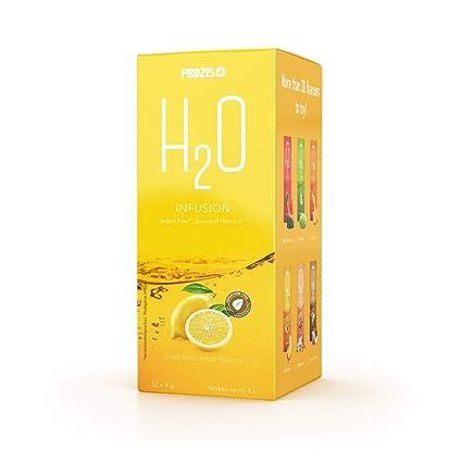 Prozis H2O Infusion 12x9g - Sobre de Bebida de Limonada Fresca para la Hidratación Corporal -