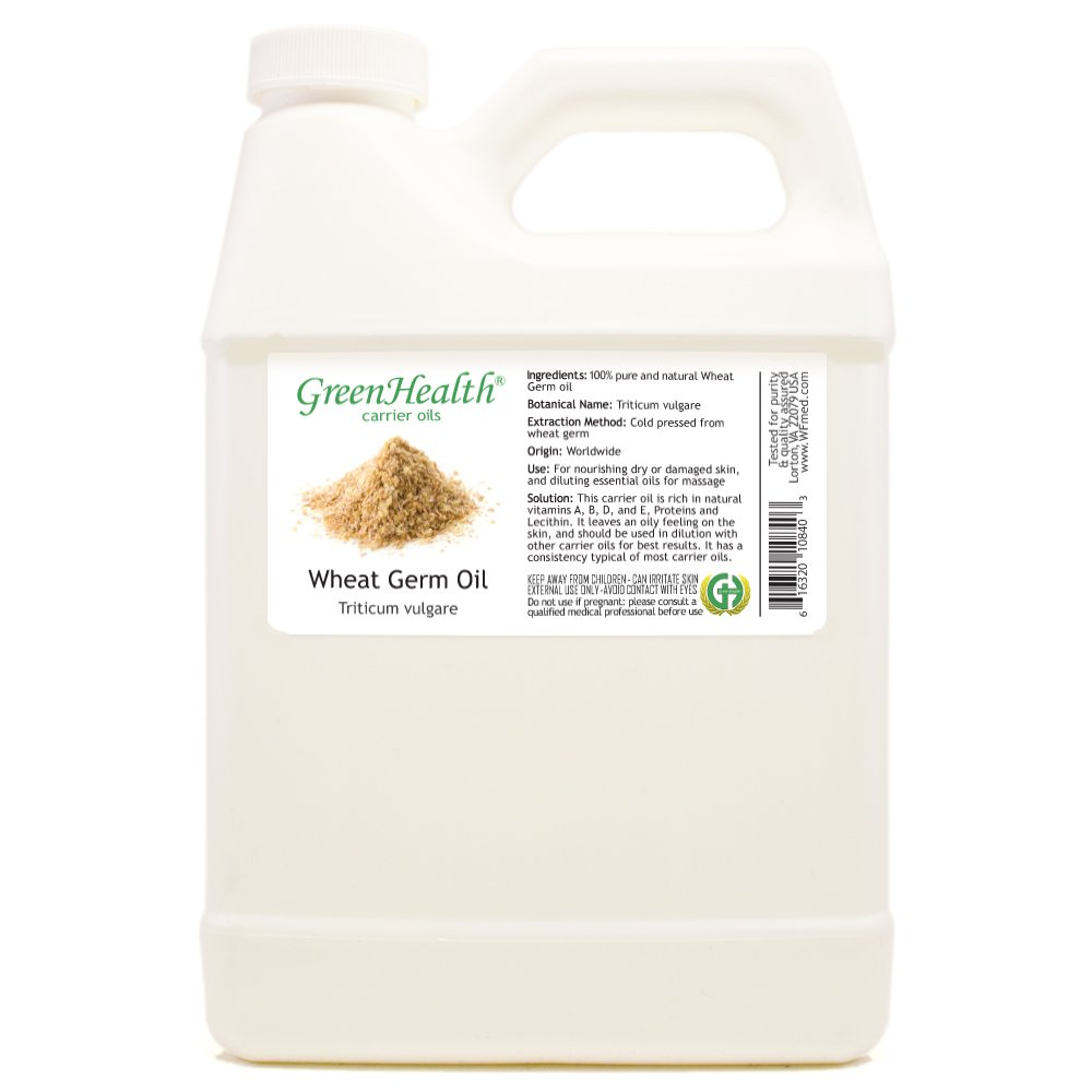 GreenHealth Wheat Germ Oil - 32 fl oz (946 ml) - 100% Pure Virgin Cold Pressed