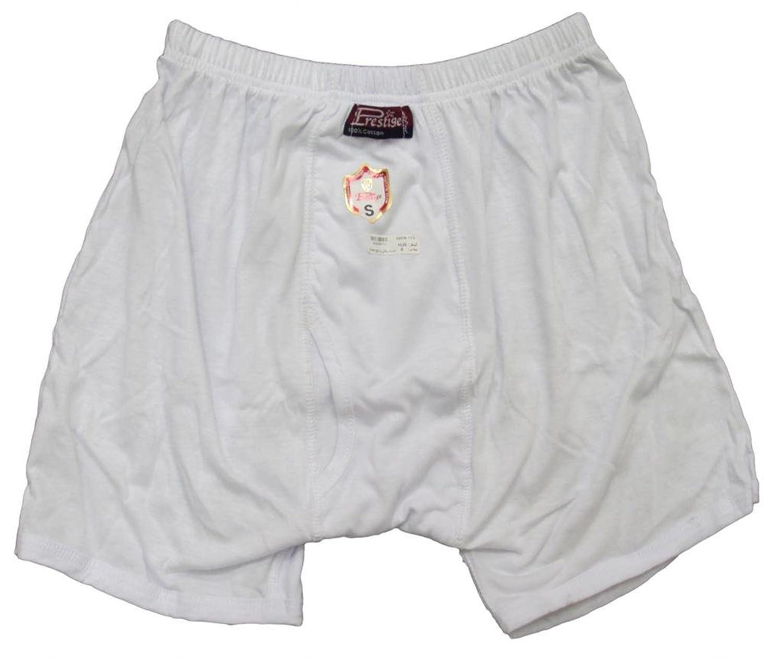 100% Egyptian Cotton Mens Men Underwear Half Short Boxer Briefs White Brief
