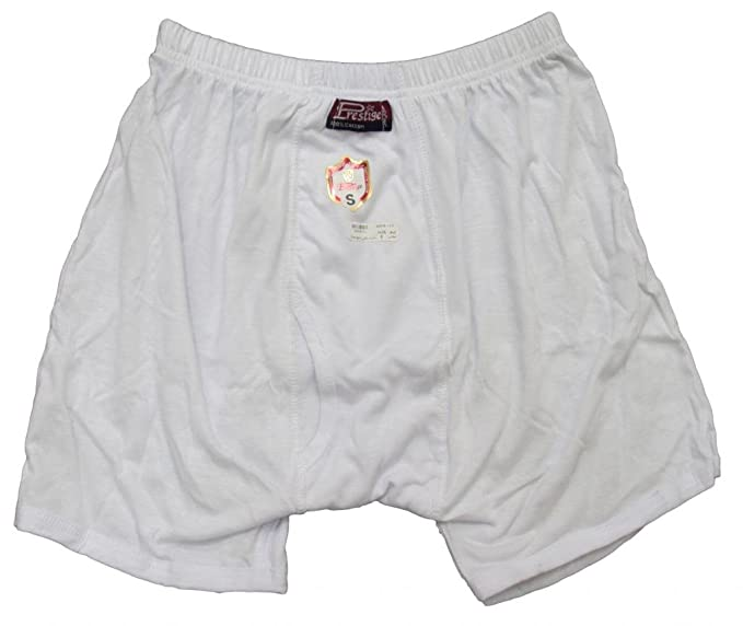 223a647621b7 100% Egyptian Cotton Mens Men Underwear Half Short Boxer Briefs White Brief  (S)