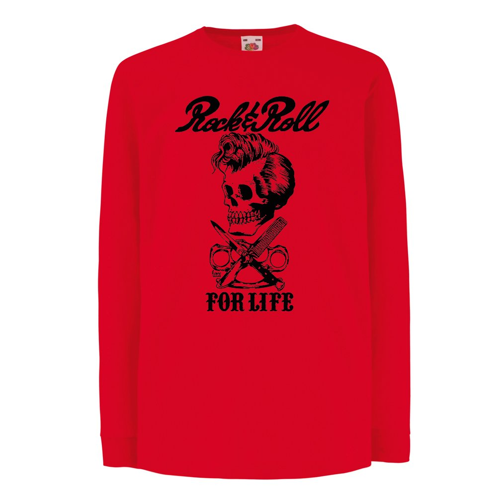lepni.me T-Shirt bambini/Ragazze Rock and Roll For Life - Anni '60, 70, 80 - Band Rock Vintage - Musicamente - Abbigliamento da Concerto VACOM ADVARTAIZING Ltd