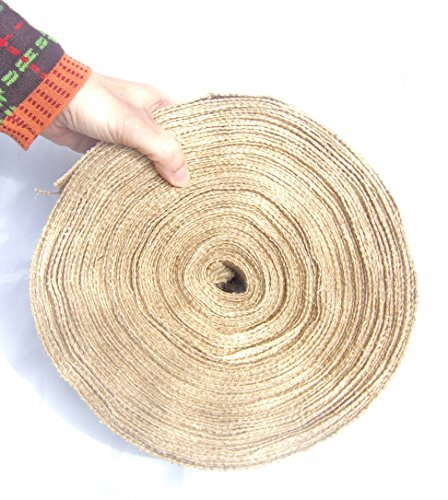 Burlap Ribbon by the Roll. Huge 50 Yards Jute Spool by Drency. 2 (Huge Ribbon)