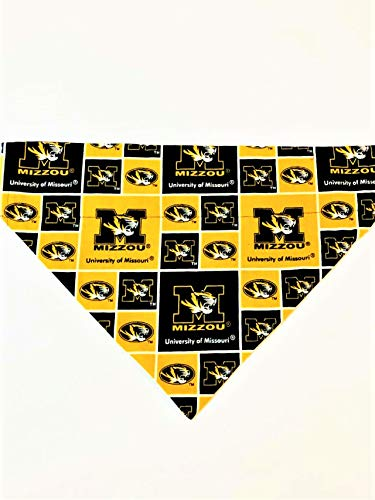 Missouri University Tigers (MIZZOU) Pet No-Tie Bandana by Barking Bad Bakery and Boutique