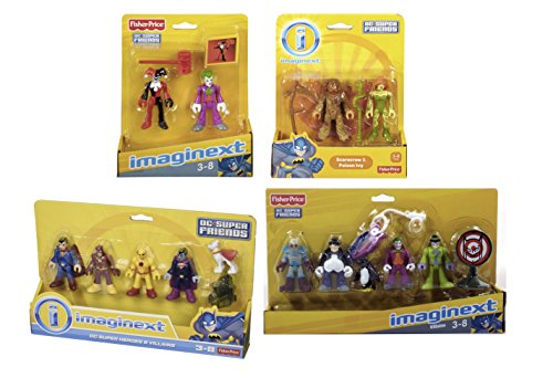 Super Heroes and Villains Exclusive Pretend Action Figures Play Set