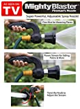 MightyBlaster Fire Nozzle Technology Adjustable Power Hose Attachment FITS ANY GARDEN HOSE
