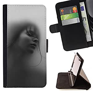 Jordan Colourful Shop - girl woman deep beautiful black white For Sony Xperia Z2 D6502 - Leather Case Absorci???¡¯???€????€???????&bd