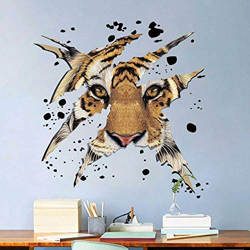 Company Office Decorations Domineering Tiger Head Wall Stickers - Wall Sticker ()